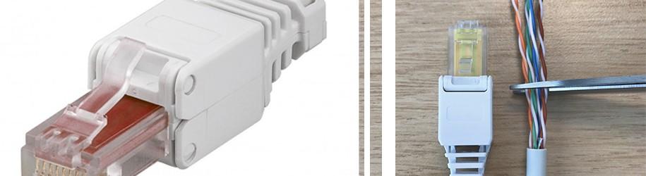 Hoe monteer ik een UTP toolless connector?
