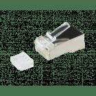 Cat6 netwerkstekker RJ45 + Hulpstukje - afgeschermd - voor soepele kern