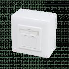 Cat6 netwerkdoos opbouw wit Roline - afgeschermd