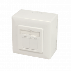 Cat6a netwerkdoos opbouw ivoor - afgeschermd