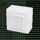 Cat6a netwerkdoos opbouw wit - afgeschermd