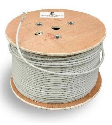 Cat6 netwerkkabel voor buiten op rol 500m stug 100% koper Belden 7965EPE - niet afgeschermd