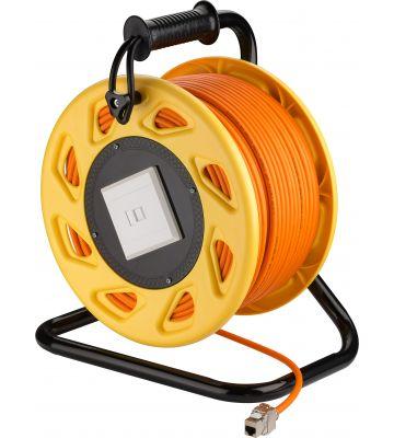 CAT7 S/FTP Kabelhaspel met CAT6a Keystone Connector -  RJ45 - 50 Meter