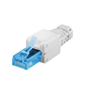Cat6a netwerkstekker voor stugge en soepele kern (zonder gereedschap) - niet afgeschermd