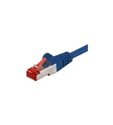 Cat6 netwerkkabel 1m blauw 100% koper - dubbel afgeschermd