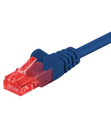 Cat6 netwerkkabel 0,25m blauw - niet afgeschermd - CCA