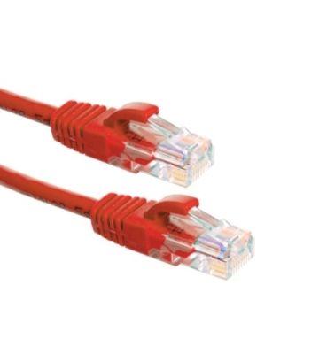Cat6a netwerkkabel 0,50m zwart 100% koper - niet afgeschermd