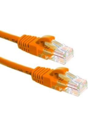 Cat6a netwerkkabel 30m oranje 100% koper - niet afgeschermd