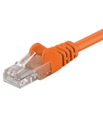 CAT5e netwerkkabel 7,50m oranje - niet afgeschermd - CCA