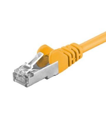 Cat5e netwerkkabel 15m geel - enkel afgeschermd