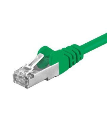 Cat5e netwerkkabel 0,50m groen - enkel afgeschermd