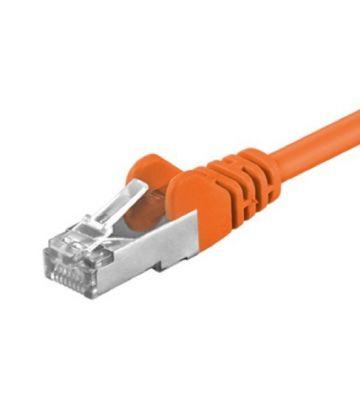 Cat5e netwerkkabel 0,25m oranje - enkel afgeschermd