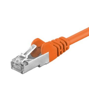 Cat5e netwerkkabel 5m oranje - enkel afgeschermd