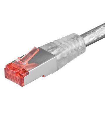 Cat6 netwerkkabel 7,50m transparant 100% koper - dubbel afgeschermd