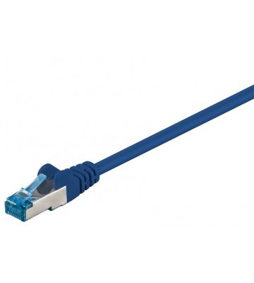 Cat6a netwerkkabel 1,50m blauw 100% koper - dubbel afgeschermd
