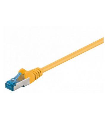 Cat6a netwerkkabel 30m geel 100% koper - dubbel afgeschermd
