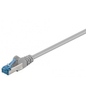 Cat6a netwerkkabel 0,25m grijs 100% koper - dubbel afgeschermd