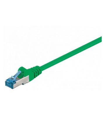 Cat6a netwerkkabel 30m groen 100% koper - dubbel afgeschermd