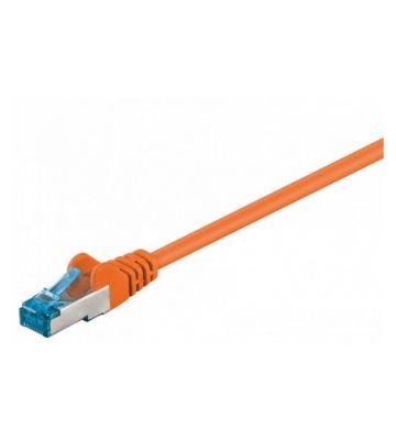 Cat6a netwerkkabel 50m oranje 100% koper - dubbel afgeschermd