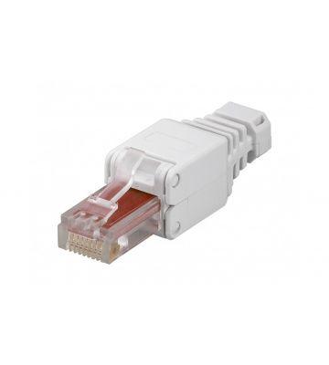 CAT5e netwerkstekker voor stugge en soepele kern (zonder gereedschap) - niet afgeschermd