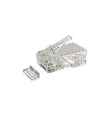 Cat6 netwerkstekker RJ45 + Hulpstukje - niet afgeschermd - voor soepele kern