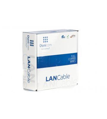DANICOM Cat6 netwerkkabel op rol 50m soepel PVC (Fca) - niet afgeschermd