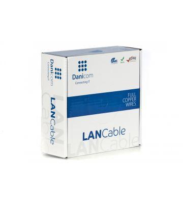 DANICOM Cat6 netwerkkabel op rol 50m stug LSZH (Eca) - niet afgeschermd