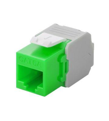 Cat6a keystone netwerkstekker groen LSA - niet afgeschermd
