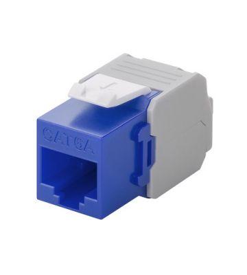 Cat6a keystone netwerkstekker blauw LSA - niet afgeschermd