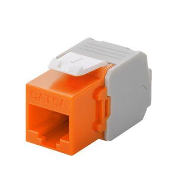 Cat6a keystone netwerkstekker oranje LSA - niet afgeschermd