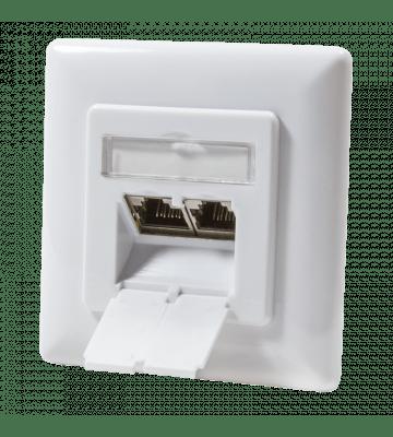 Cat6 netwerkdoos inbouw wit Roline - afgeschermd