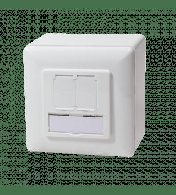 CAT5e netwerkdoos opbouw wit Roline - afgeschermd