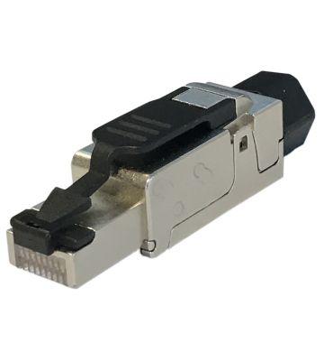 Cat6/6a/7 netwerkstekker (zonder gereedschap) 10Gb voor stugge kern - afgeschermd