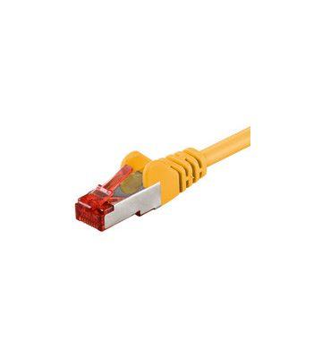 Cat6 netwerkkabel 25m geel 100% koper - dubbel afgeschermd