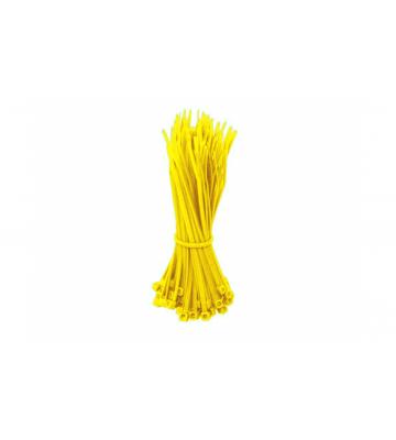 Tiewraps 140mm geel - 100 stuks