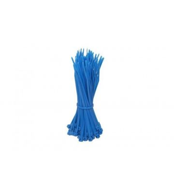 Tiewraps 200mm blauw - 100 stuks