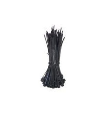 Tiewraps 140mm zwart - 100 stuks