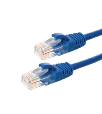 Cat5e netwerkkabel 0,25m blauw 100% koper - niet afgeschermd