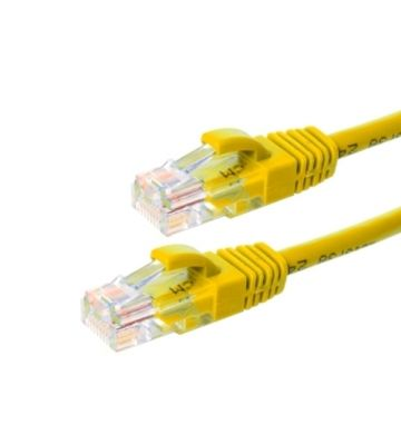 Cat5e netwerkkabel 30m geel 100% koper - niet afgeschermd