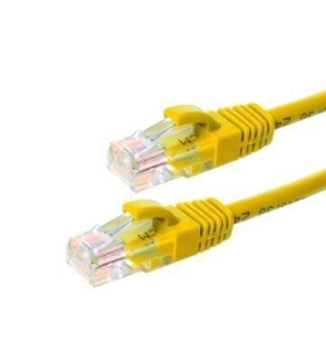 Cat6 netwerkkabel 0,25m geel 100% koper - niet afgeschermd