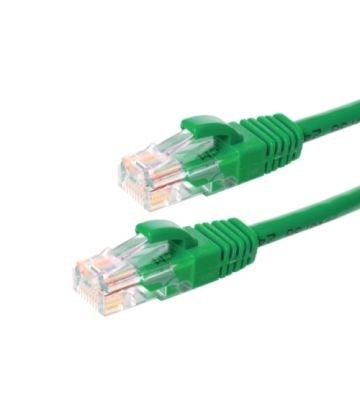 Cat5e netwerkkabel 0,25m groen 100% koper - niet afgeschermd