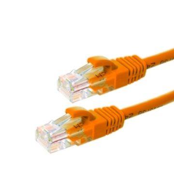 Cat6 netwerkkabel 0,25m oranje 100% koper - niet afgeschermd