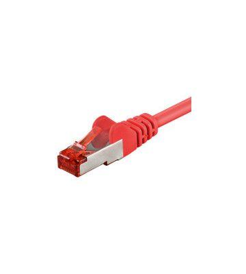Cat6 netwerkkabel 1m rood 100% koper - dubbel afgeschermd